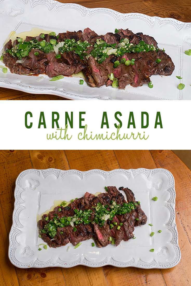 carne asada recipe with chimichurri sauce