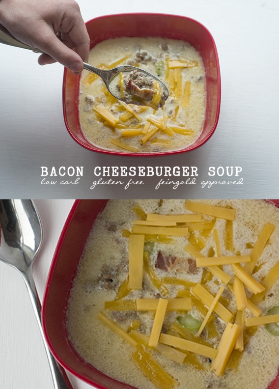 leto low carb gluten free bacon cheese burger soup
