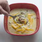 keto low carb bacon cheeseburger soup recipe