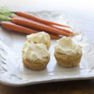 low carb gluten free carrot cake with cream cheese frosting