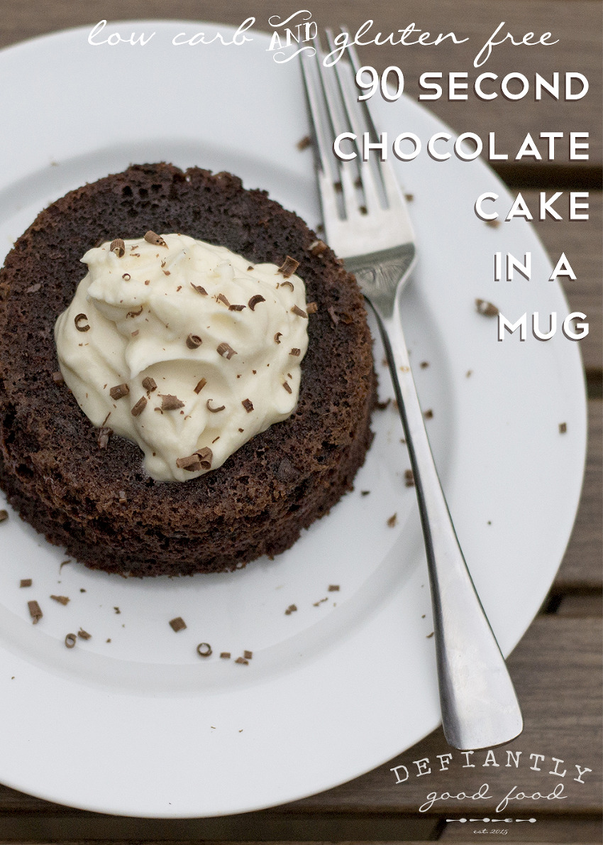 90 Second Double Chocolate Chip Mug Cake – low carb, gluten free ...