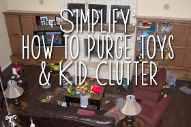 how to clear the clutter: toys